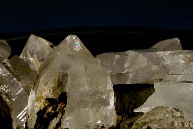 ヒマラヤ水晶 ティップリン産水晶クラスター ガネーシュヒマール レインボー